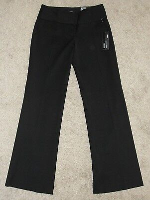 New Womens Editor Pants Sz 00 Black Solid Wide Waistband Low Rise Flare Pants