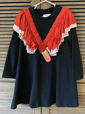 Bangbang Copenhagen Swan Dress Long Sleeve 7-8 Y Ruffle Statement bang bang