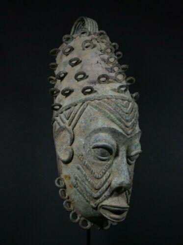 African Benin Bronze OBA King Mask - Benin, Nigeria AFRICAN TRIBAL ART PRIMITIF