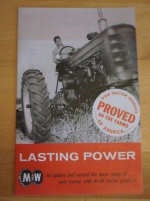 Mw Gear Co. Tractor Brochure Farmall Ih Pistons Governor 9 Speed Hand Clutch Jd