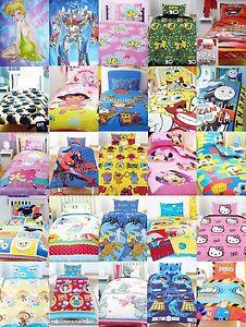 Childrens-Novelty-TV-Character-bedding-single-duvet-set-disney-other-prints