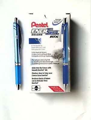 New Pentel Energel Deluxe Rtx Liquid Gel Pen Needle Tip 0.7mm 12 Pack