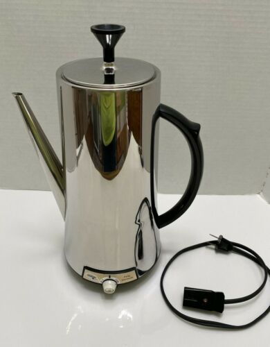 Vintage Mid Century Sunbeam Vista Chrome Coffeemaster Percolator Model VAP 75