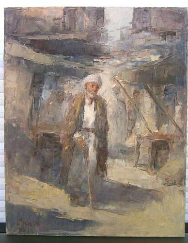 Orientalist Oil Painting Middle Eastern Arab Man Signed