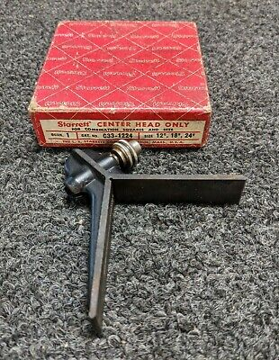 Starrett Center Head Only C33-1224 For Combination Square Tool Usa