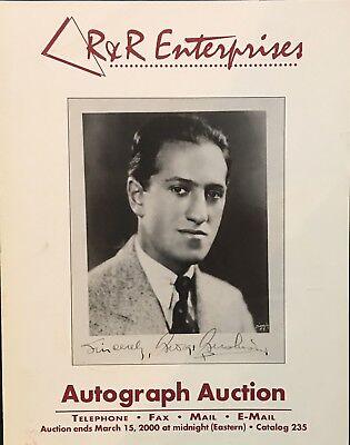 RR AUCTION CATALOG HISTORICAL ART NASA SPORTS, ENTERTAINMENT GEORGE GERSHWIN CVR