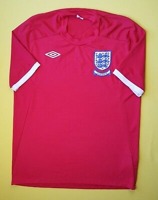 England soccer jersey size 44 2010 2012 away shirt football Umbro ig93