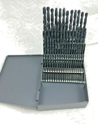 60 PC Black Wire Number Jobber Drill BIt Set #1 to #60 Huot Case.118 degree