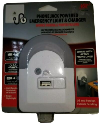 PHONE JACK POWERED EMERGENCY NIGHT LIGHT AND CHARGER VR3 pho