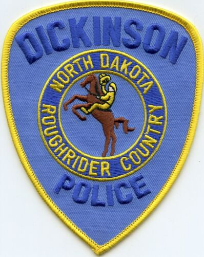 DICKINSON NORTH DAKOTA ND Rough Rider Country RODEO COWBOY POLICE PATCH