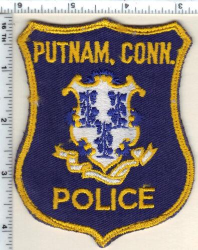 Putnam Police (Connecticut) Uniform Take-Off Shoulder Patch from 1989