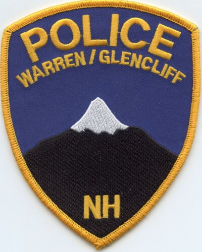 WARREN GLENCLIFF NEW HAMPSHIRE NH POLICE PATCH