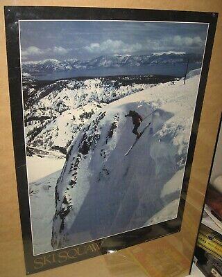 Vintage Ski Squaw Valley Wall Poster Ad Travel California 24