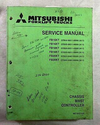 Mitsubishi Fb16kt Fb18 Fb20kt Forklift Reach Trucks Factory Service Shop Manual
