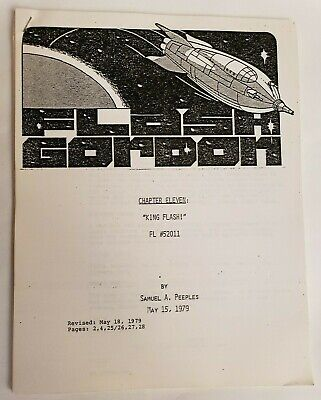 FLASH GORDON / Samuel A. Peeples 1979 TV Script,