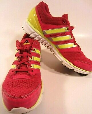 Adidas Womens Athletic Shoes Size 8.5 Hot Pink And Yellow