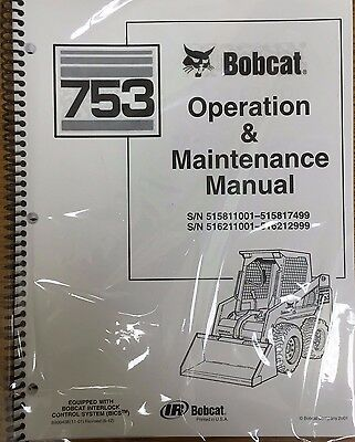 Bobcat 753 Skid Steer Operation Maintenance Manual Operatorowners 1 6722926