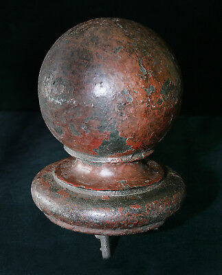 Antique 1801-1900  Cast iron country house finale gate post