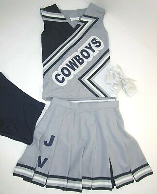 Dallas Cowboy Cheerleaders Costume (Dallas COWBOYS Cheerleader Uniform Outfit Costume Yth Sz 12 Pleated Skirt)