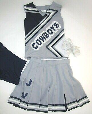 Dallas Cowboy Cheerleading Outfit (Dallas COWBOYS Cheerleader Uniform Outfit Costume Yth Sz 12 Pleated Skirt)