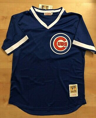 Chicago Cubs #44 Anthony Rizzo Throwback 1984 Jersey Blue Mesh pullover Men's BP