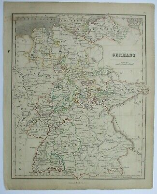 Antique Map of Germany by William & Robert Chambers 1845