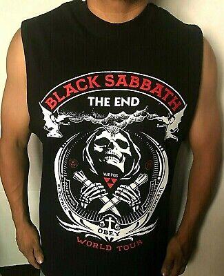 BLACK SABBATH THE END WORLD TOUR PUNK ROCK SLEEVELESS MEN'S SIZES