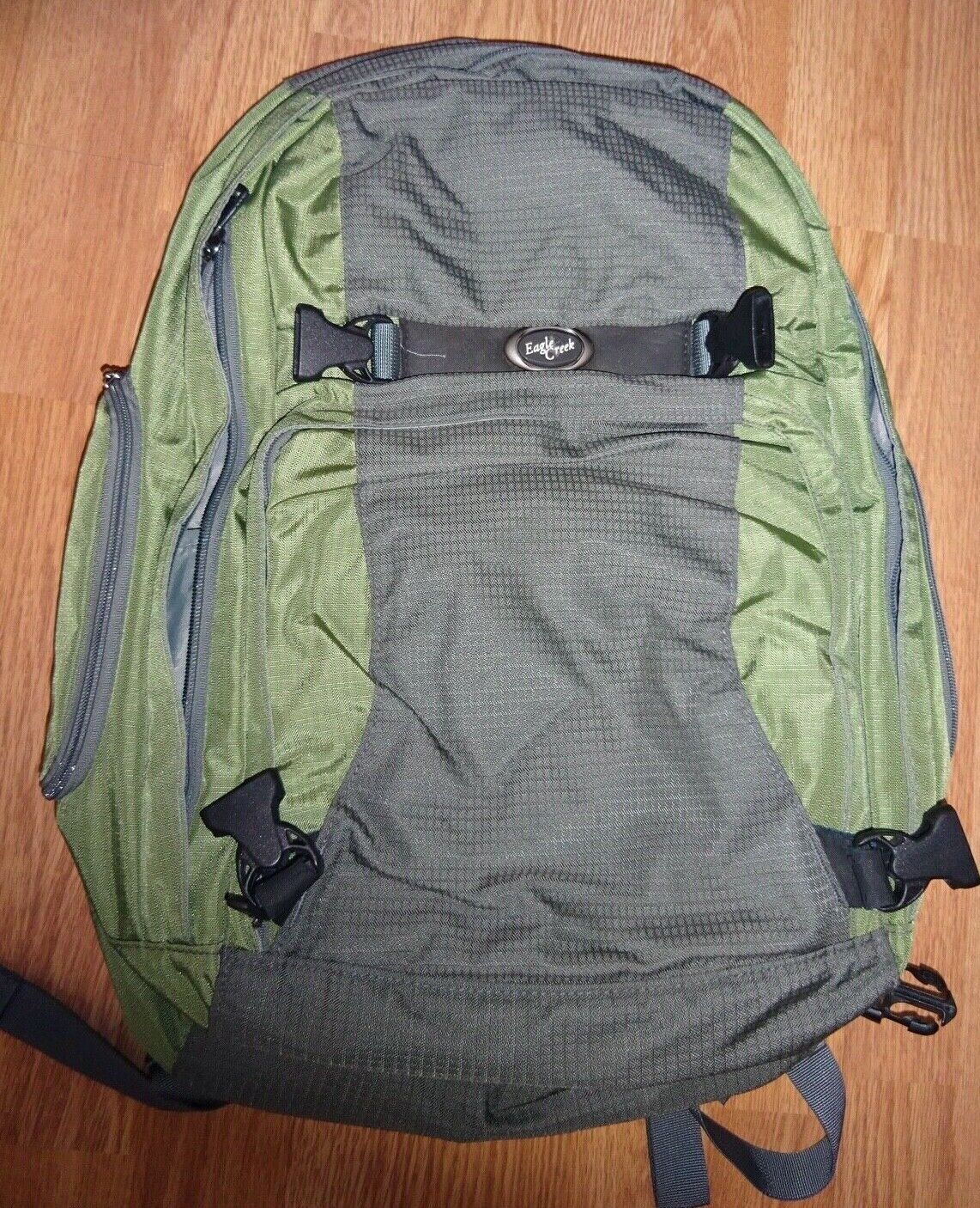 Eagle Creek Green And Gray Replacement Detachable Day Pack Backpack Hiking 20x15 - $49.00