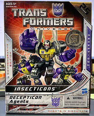 G1 Transformers Universe Insecticons Deception Agents 25 Years 1984-2009 Robot