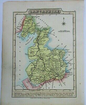 Antique map of Lancashire by William Lewis 1819