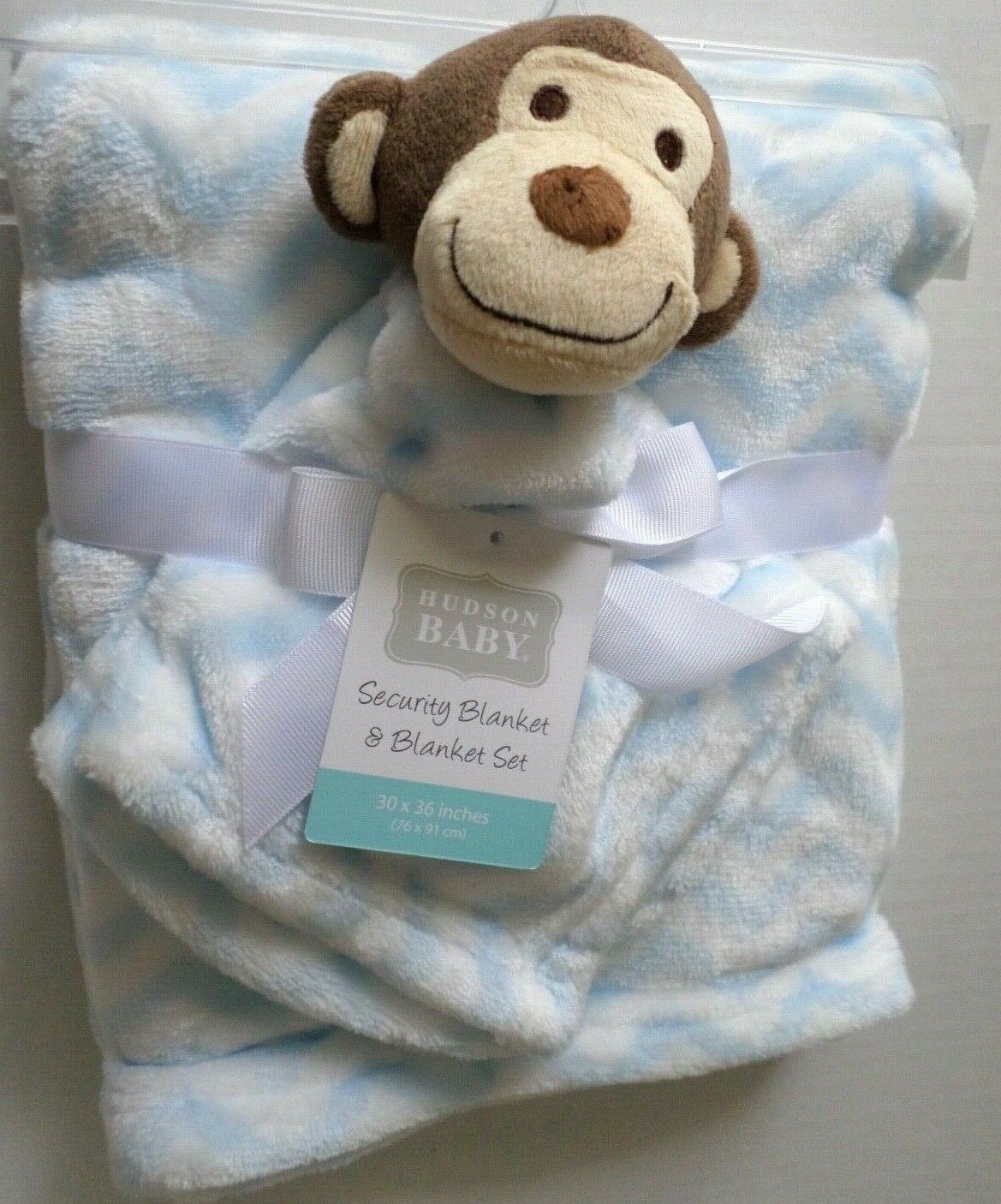 Hudson Baby Plush Security Blanket Set, Monkey by Hudson Bab