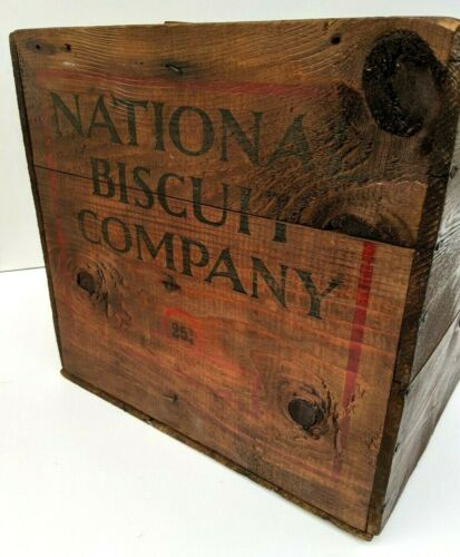 National Biscuit Company Wood Crate Nabisco Ad Display Box Oyster Crackers