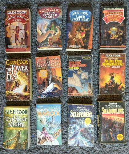 12 Book Lot, Glen Cook paperbacks various including 4 Garret Novels and Various