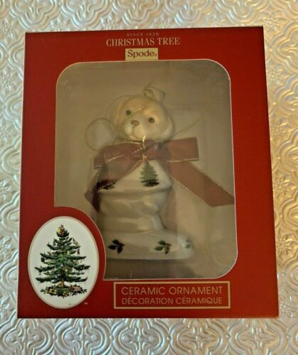 SPODE Puppy In Boot Ceramic Ornament Dog Christmas Tree~ New in Box