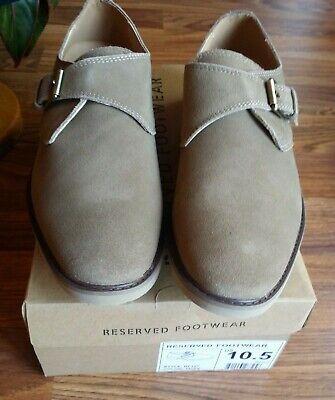RESERVED FOOTWEAR Men's 10.5 MONK STRAP Taupe LOAFER Shoes NEW ~ FREE SHIPPING! na sprzedaż  Wysyłka do Poland