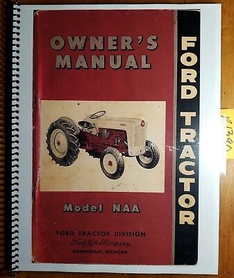 Ford Naa Golden Jubilee 1953 1954 Owners Operators Manual Se5943 15460 154