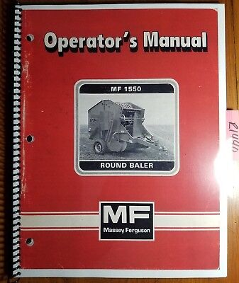 Massey Ferguson Mf 1550 Round Baler Owner Operator Manual 1449 065 M1 483 Sup