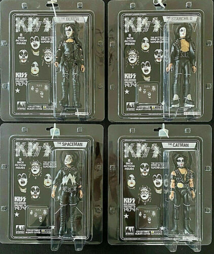 KISS 1974  Complete set of figures (2012) FIGURES TOY CO PAUL GENE ACE PETER