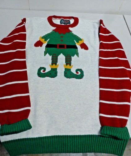 "Ugly Christmas Sweater Brand ""Elf"" Sweater Size Extra Large Unisex"