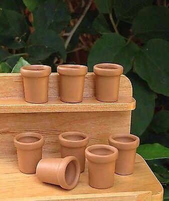 Miniature Dollhouse FAIRY GARDEN Accessories ~ Set of 8 Mini Pots ~ NEW