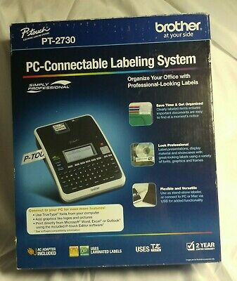 Brother P-touch Pt-2730 Label Thermal Printer Pc Connectable Label Maker System