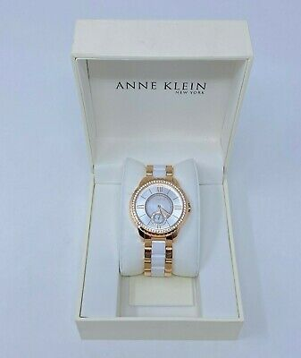 Anne Klein NY Swarovski Crystal 12/2310RGWT Japanese Quartz Watch