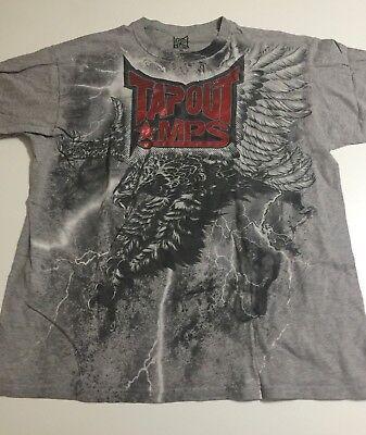 06634d116861 Tapout MPS Men's Size XL Gray Short Sleeve T-Shirt Eagle Thunder Cotton  Blend