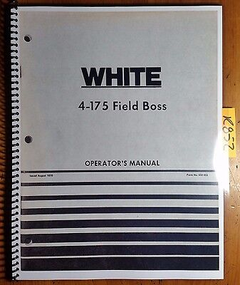 Wfe White 4-175 Field Boss Tractor Owners Operators Manual 432 453 879