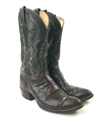 TONY, LAMA, Mens, Brown, Teju, Lizard, Skin, Cowboy, Western, Boots, 8536, Size, 10, D