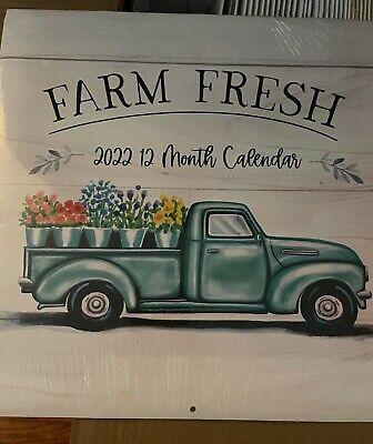 2022 Dollar Tree Inspiration Wall Calendar FARM FRESH New Sealed Truck