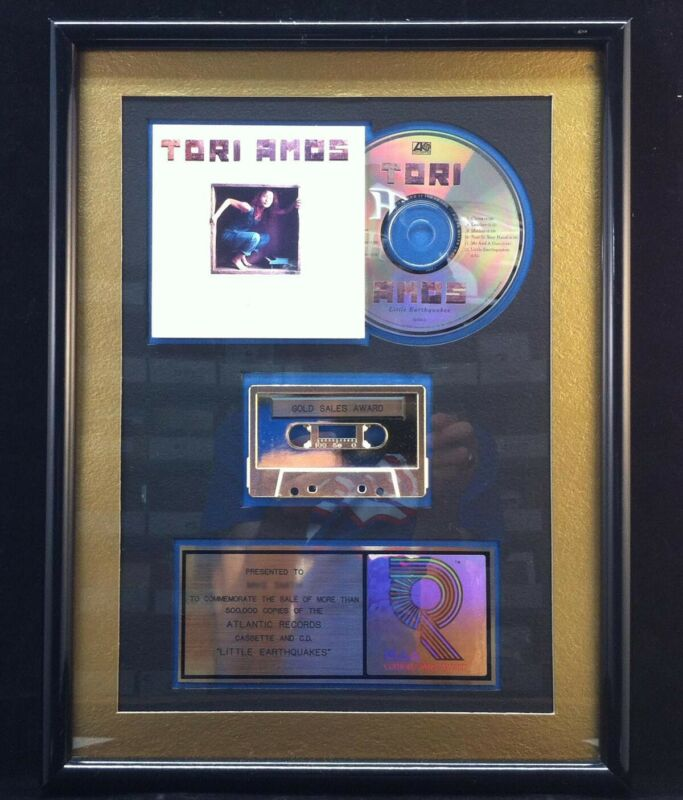 TORI AMOS Little Earthquakes 1991 RIAA Gold CD Cassette Award Plaque