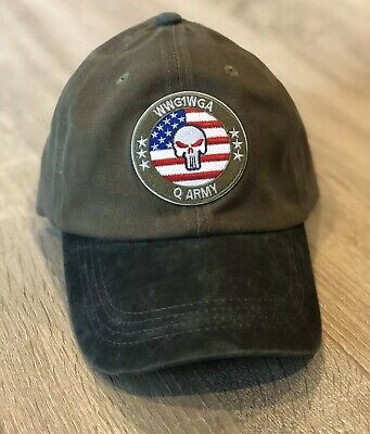 2020 USA #Qanon Men/'s Unisex L XL FlexFit Hat WWG1WGA Custom Embroidery USA Q