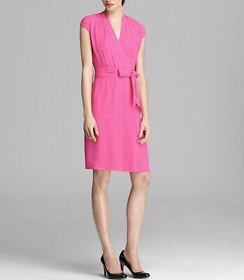 Kate Spade Hot Pink Dress Bow Size 8 V Neck Sleeveless