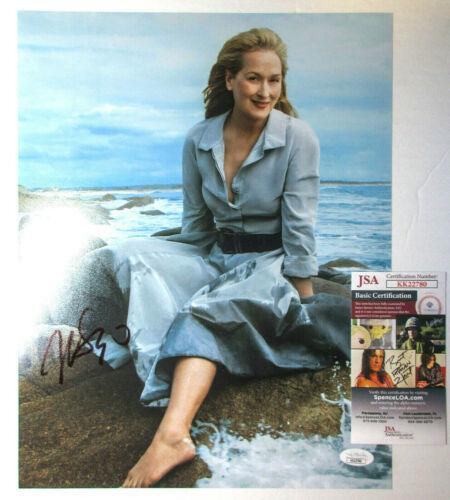 Meryl Streep Signed Autographed Vogue Magazine 11x14 Photo JSA Authenticated